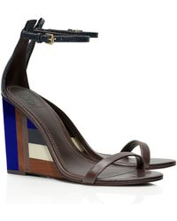 Tory Burch Color-Cube Wedge Sandal - Lyst