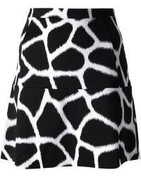 MICHAEL Michael Kors Giraffe Print Skirt - Lyst