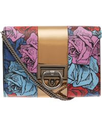 Reece Hudson - Multicolour Floral Rider Leather Bag - Lyst