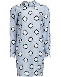 Matthew Williamson Polka Star Print Silk Roll Neck Dress - Lyst
