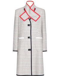 Thom Browne Graphic-detail Tweed Coat - Lyst