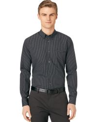 Calvin Klein Modern Fit Medium Grid Check Sport Shirt - Lyst