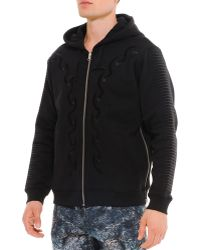Uppercut - Embroidered Scarful Zip Hoodie - Lyst