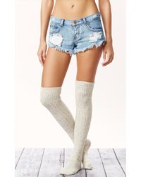 Free People Speckled Tall Sock - Lyst