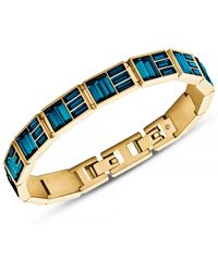 Michael Kors Gold-tone and Montana Baguette Tennis Bracelet - Lyst