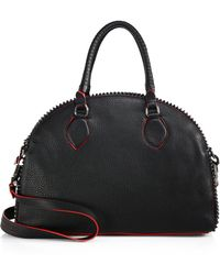Christian Louboutin Studded Leather Bowling Satchel - Lyst