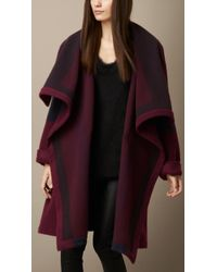 Burberry Knitted Blanket Coat - Lyst