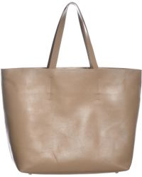 Gvyn - Luca Camel Leather Tote Bag - Lyst
