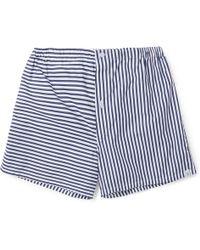 Sleepy Jones - Jasper Striped Cotton Boxer Shorts - Lyst