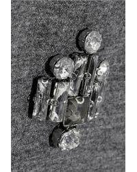 By Malene Birger Dittalo Crystal-Embellished Neoprene Sweatshirt - Gray