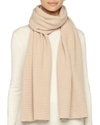 Marc Jacobs Textured Knit Scarf - Lyst
