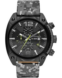 Diesel Mens Chronograph Overflow Gray Camouflage Reflective Strap Watch 54x49mm - Lyst