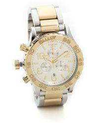 Nixon 42-20 Chrono Watch - Silver/Champagne/Gold - Lyst