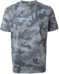 Valentino Rockstud Camouflage T-Shirt - Lyst