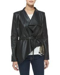 Sass & Bide Rise & Prosper Asymmetric Faux-Leather Jacket black - Lyst