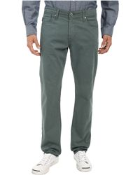Ag Adriano Goldschmied Graduate Tailored Leg Sueded Stretch Twill In Sage Cliff - Lyst
