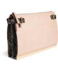 Asos Concertina Clutch Bag in Colour Block - Lyst
