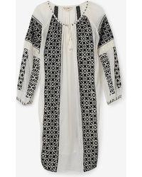 Nili Lotan Bohemian Dress black - Lyst