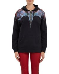 Marcelo Burlon County Of Milan Feather Graphic Pullover Hoodie - Lyst