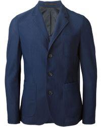 Giorgio Armani Pique Blazer blue - Lyst