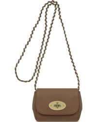 Mulberry Mini Lily Tanned Leather Clutch - Lyst