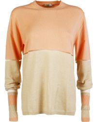 Fendi | Colour Block Striped Sweater | Lyst