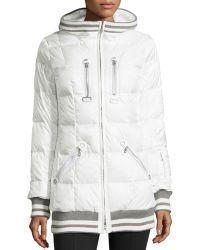 Bogner Muria Striped-Trim Hooded Puffer Jacket - Lyst