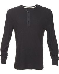 Rag & Bone Cotton Henley - Lyst