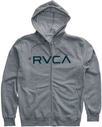 RVCA The Big Zip Up Hooded Sweatshirt - Lyst