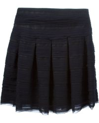 Oscar de la Renta Pleated Skirt - Lyst