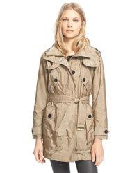 Burberry Brit - 'chevrington' Belted Jacket - Lyst