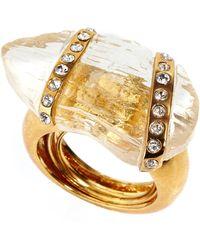 Kara By Kara Ross Gold-plated Crystal Wrap Ring - Lyst