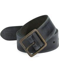 John Varvatos Burnished Leather Belt black - Lyst