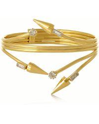 Vickisarge Fallen Angel Gold-Plated Swarovski Crystal Bracelet - Lyst