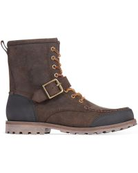 Polo Ralph Lauren Brown Woolton Boots - Lyst
