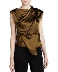 Donna Karan New York Sleeveless Draped Top - Lyst