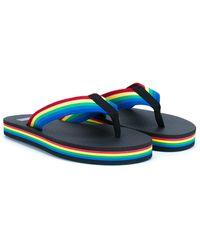 Saint Laurent Rainbow Flip-flops - Black