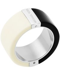 Michael Kors - Half & Half Wide Band Ring - Lyst