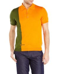 Love Moschino Two-Tone Polo - Lyst