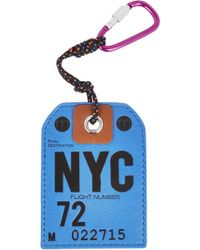 Marc By Marc Jacobs - Blue Nyc Leather Luggage Tag - Lyst