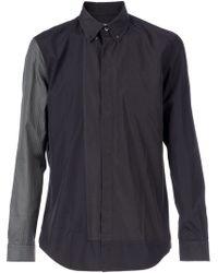 Maison Martin Margiela Gray Patchwork Shirt - Lyst