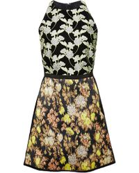Giambattista Valli Floral Velvet A-Line Dress - Lyst
