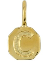 Baroni - Stamped Initial Charm - Lyst