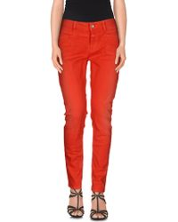 Closed | red Denim Trousers | Lyst