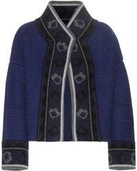 Burberry Brit - Wool-blend Knitted Jacket - Lyst