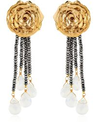 Leivan Kash - Rose Hematite Earrings - Lyst