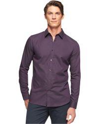 Calvin Klein Dobby Slim-fit Shirt - Lyst