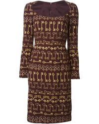 Dolce & Gabbana Key Print Sheath Dress - Lyst