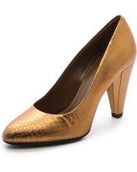 Jill Stuart Anika Pumps  Gold - Lyst