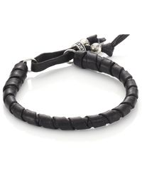 King Baby Studio   Thin Natural Wrap Leather Bracelet   Lyst